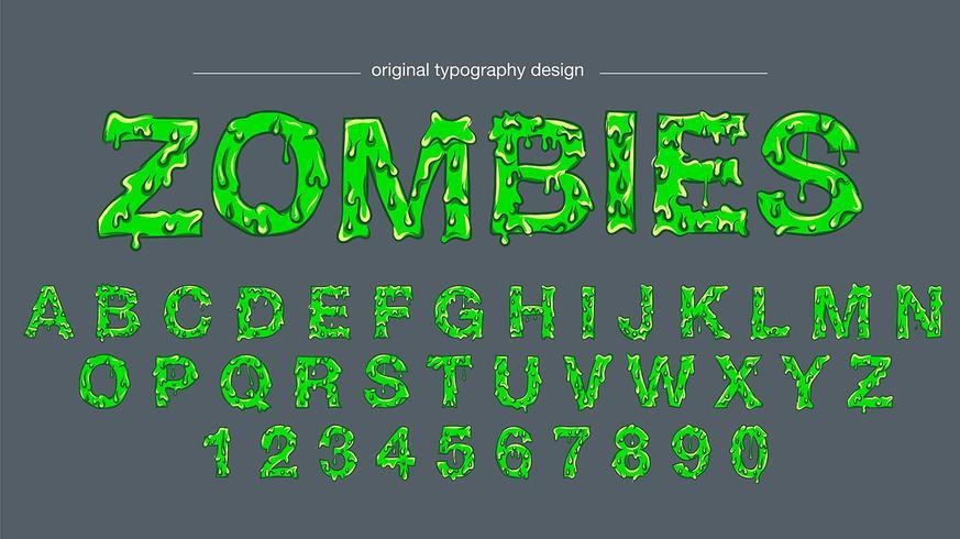 Groen slijm typografie ontwerp vector