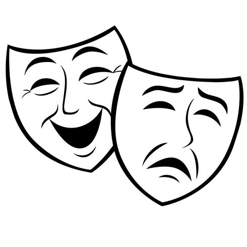 vetor de máscara thespian eps