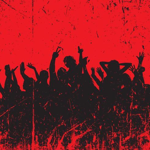 Grunge partij menigte achtergrond