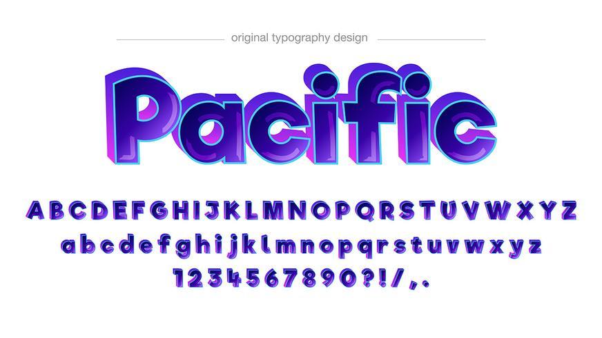 Kleurrijk komisch typografieontwerp vector