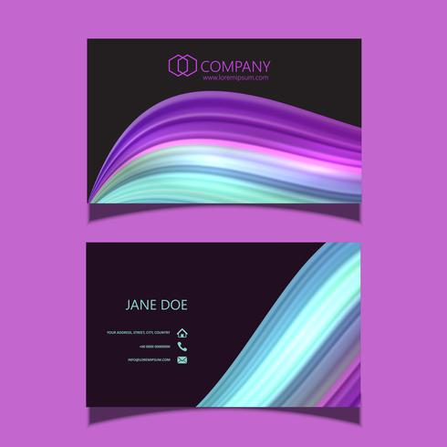 Abstract flow business card
