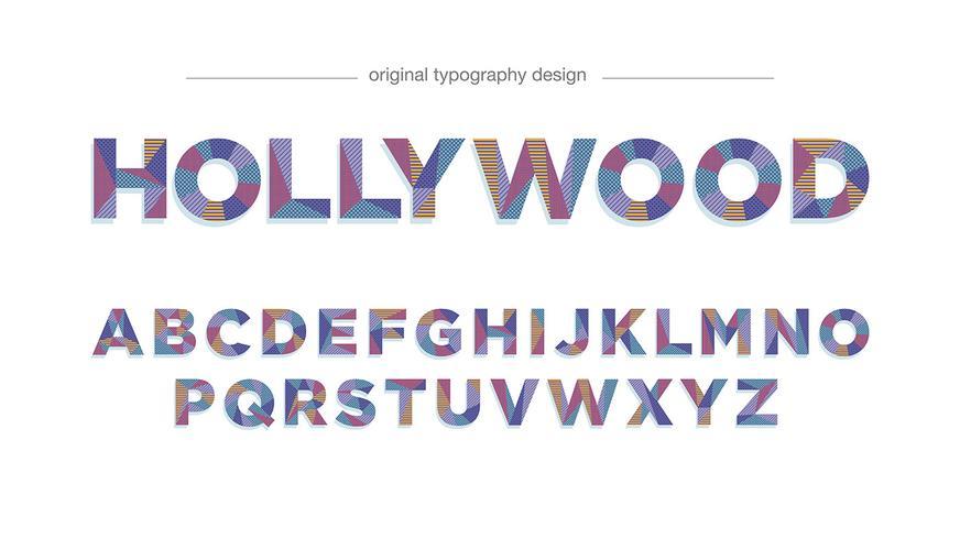 Design de tipografia padrão colorido