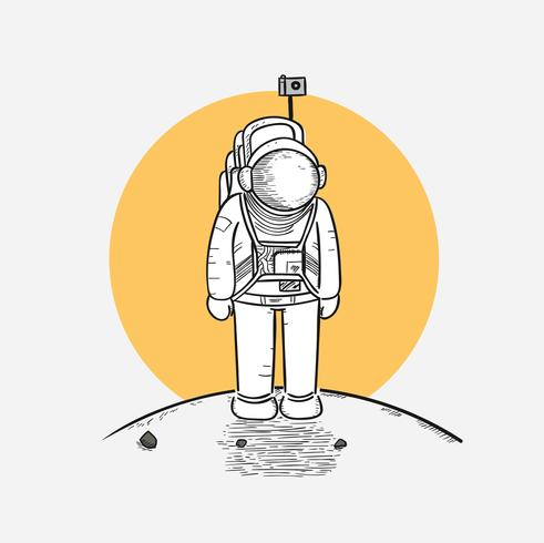 Astronauten treten zum ersten Mal auf den Mond