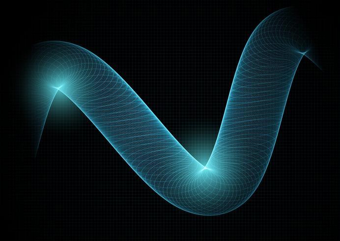 Abstrakter Technologiehintergrund mit flüssigem Gitter