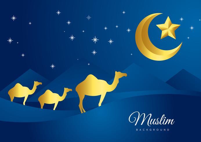 Ilustración de vector de diseño de tarjeta de felicitación de vacaciones Eid Mubarak islámica