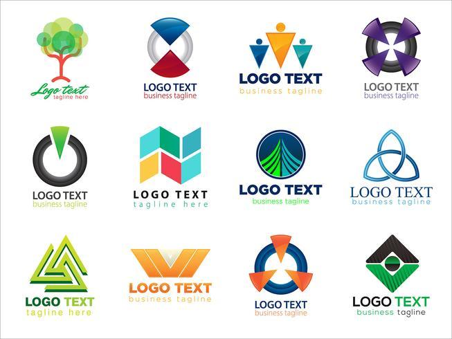 Kleurrijke logo-collectie