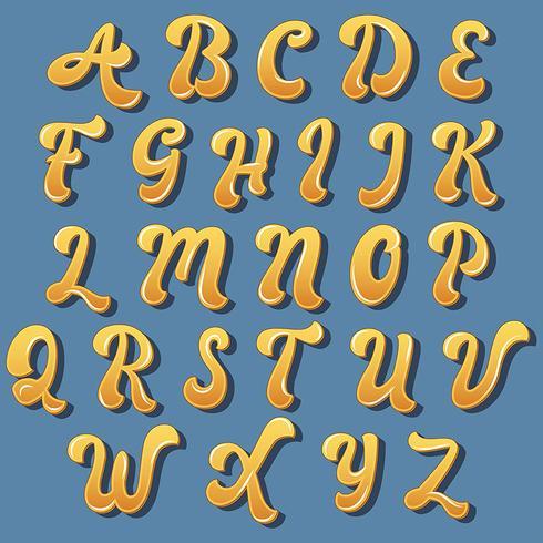 Gul handskriven typografi design