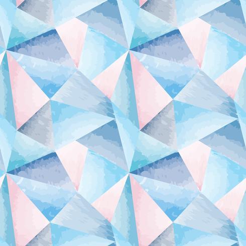 Resumen de patrones sin fisuras forma geométrica fondo acuarela