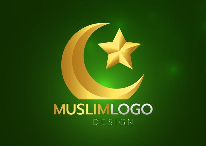 Islamic greeting card on green background. Vector illustration. Ramadan Kareem