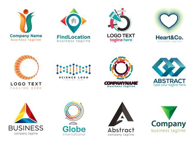Moderne collectie logo-ontwerpen