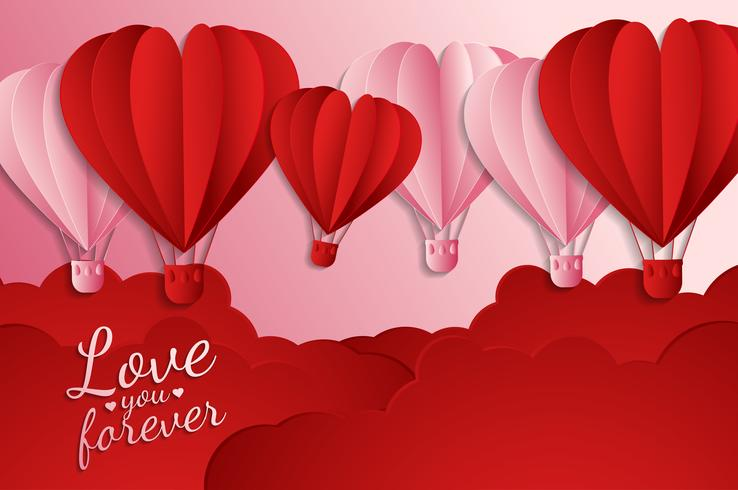 love Invitation card Valentine's day abstract background. Greeting card, Flat design Happy love. can be add text. vector illustration