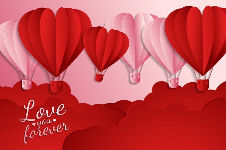 amour carte d'invitation abstrait de la Saint-Valentin. Carte de voeux, design plat Amour heureux. peut être ajouter du texte. illustration vectorielle vecteur
