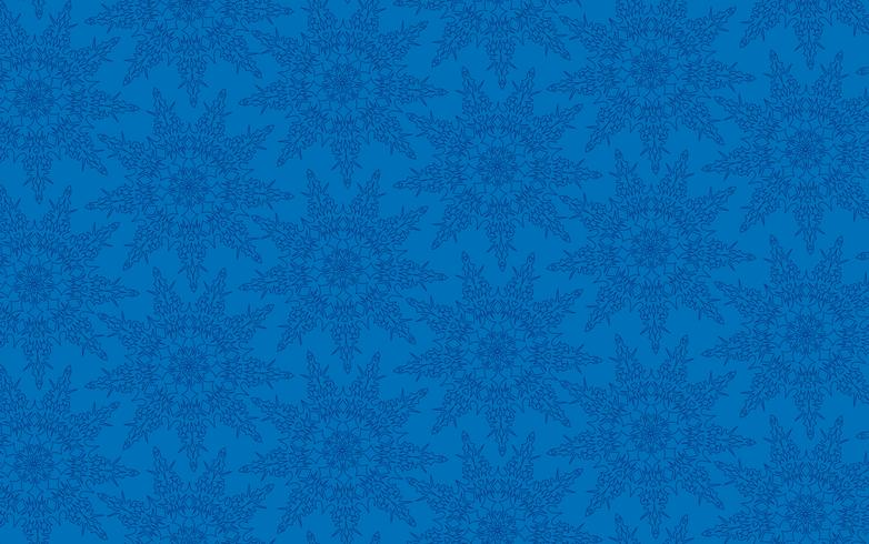 Snowflakes seamless pattern, snow background.
