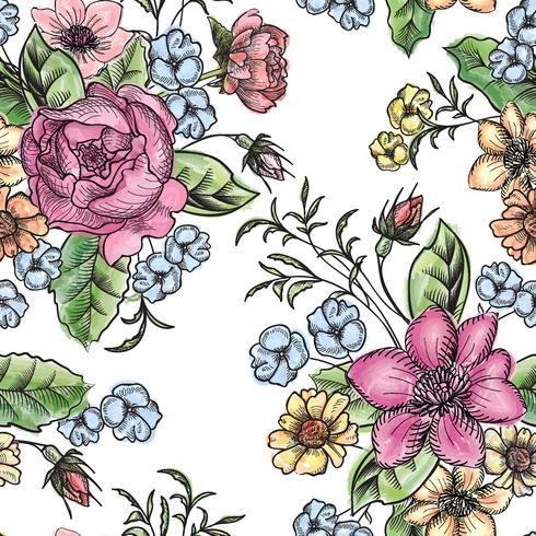 Floral fundo sem emenda. Padrão floral.