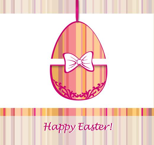 Easter Egg Sign. Easter greeting card background. Religious symbol.