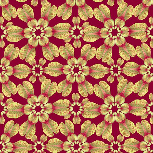 Bloemen laat patroon. Naadloze achtergrond. Natuur swirl blad ornament