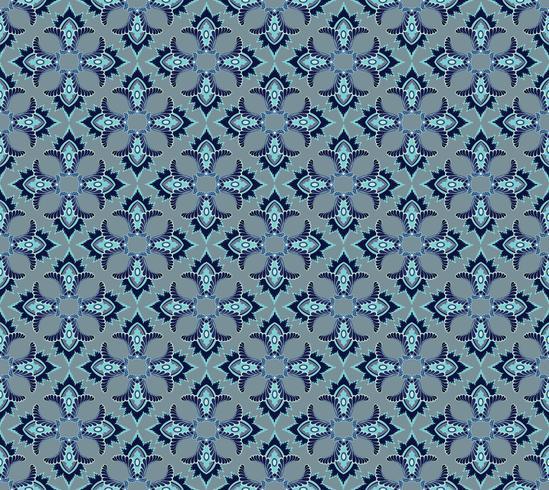Seamless mosaic pattern Ornamento floral abstrato textura de tecido Oriental vetor