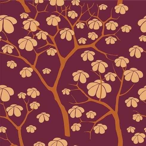 Forest seamless background. Garden tree pattern