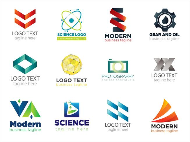 Colorful logo collection