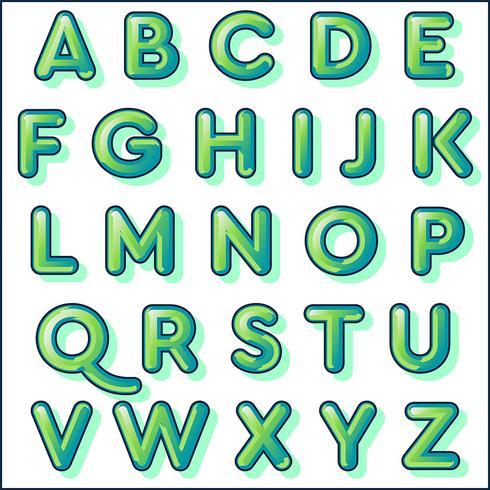 Bold green typography design