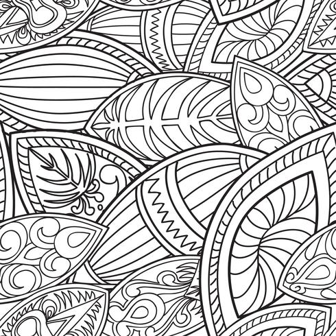 Floral oriental seamless pattern. Abstract Linear ethnic background