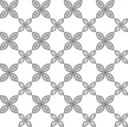Patrón floral sin fisuras Ornamento lineal. Fondo abstracto vector