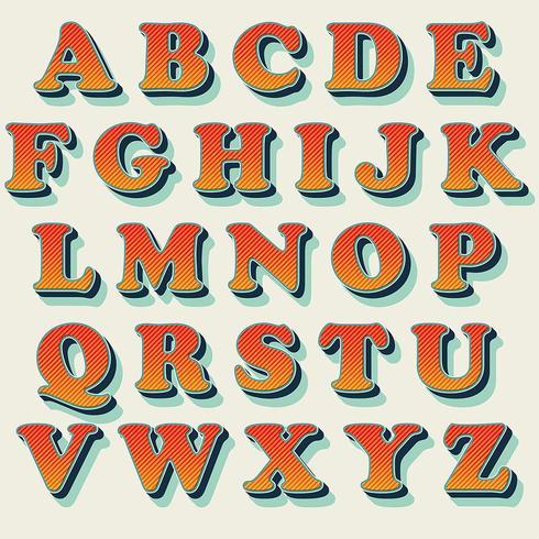 Classic orange typography design