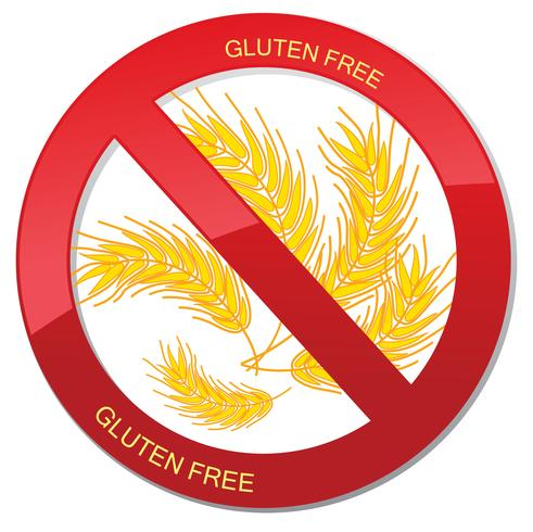 Gluten free icon. No bread sign. Ban high-calorie food symbol
