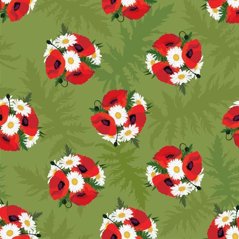 Padrão sem emenda floral. Fundo de flor. Florescer textura do jardim