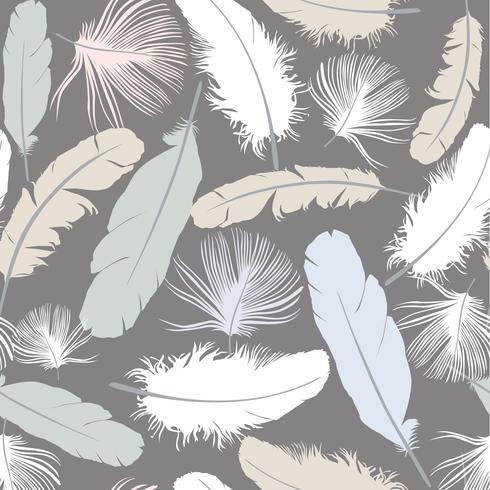 naadloze patroonachtergrond met witte veren