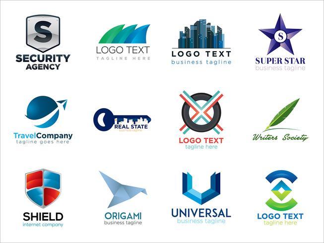 Colorful logo bundle