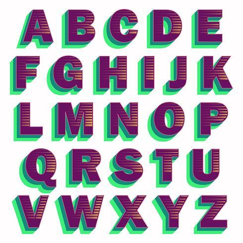 Djärv lila typografi design
