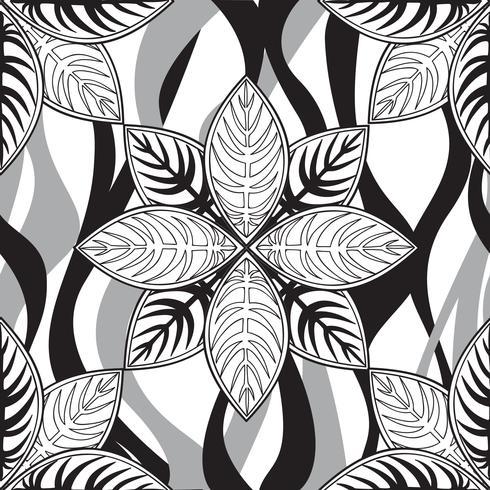 Patrón floral sin fisuras Ornamento lineal. Fondo abstracto