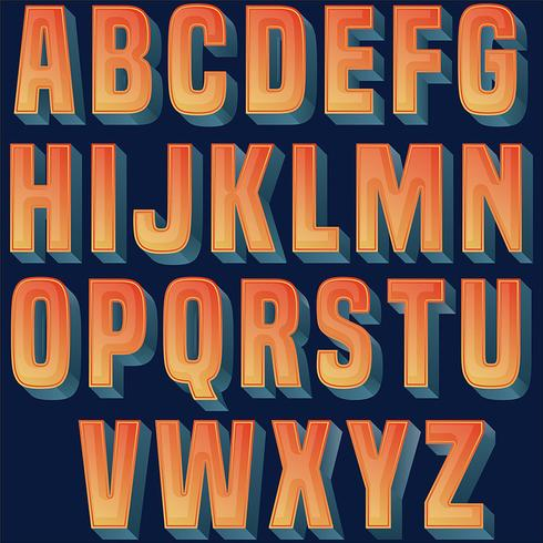 Bold orange typography design