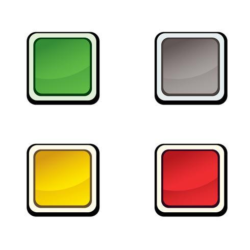 Button set. Icon design elements.