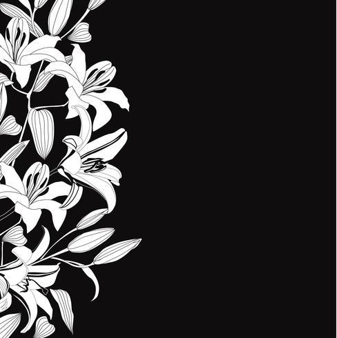 Motivo floreale senza soluzione di continuità. Sfondo di fiori Bordo del giardino fiorito vettore