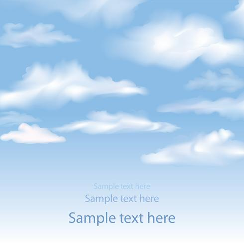 Blue sky with clouds background. Blur sky skyline wallpaper.
