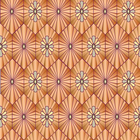 Abstrakt blommönster. Snygg geometrisk sömlös prydnad
