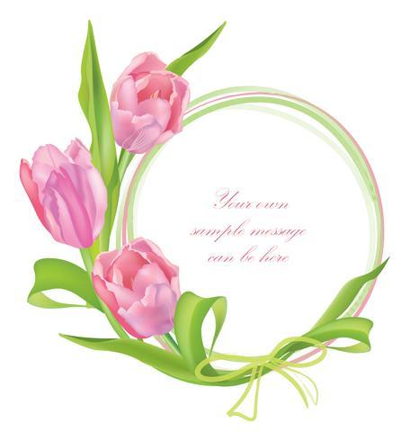 Ramo de flores Marco floral. Fondo de tarjeta de felicitación de verano