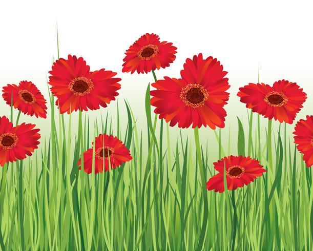 Floral seamless landscape. Flower background. Flourish garden border
