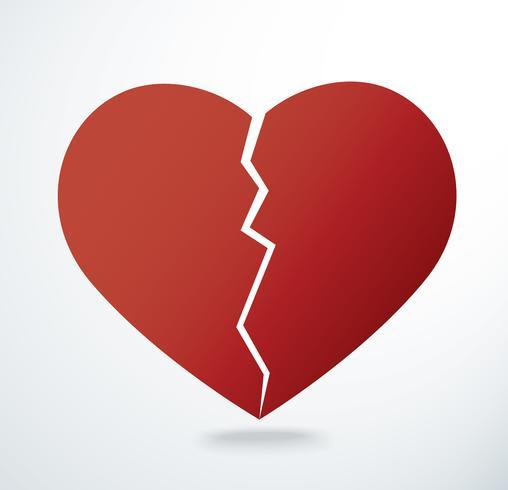 le vecteur icône de cœur brisé