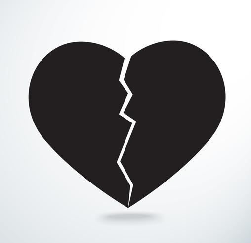 das Herz bricht Symbol Vektor