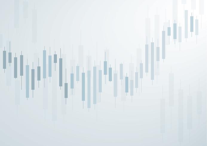Börsenhintergrundvektor des Kerzenständers