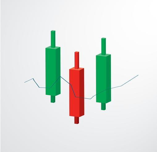 Candelero gráfico icono stock bolsa vector