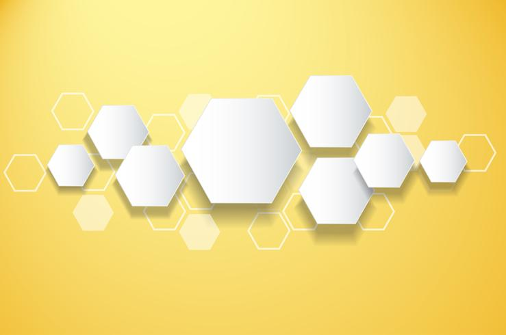abstrait abeille conception fond d'hexagone