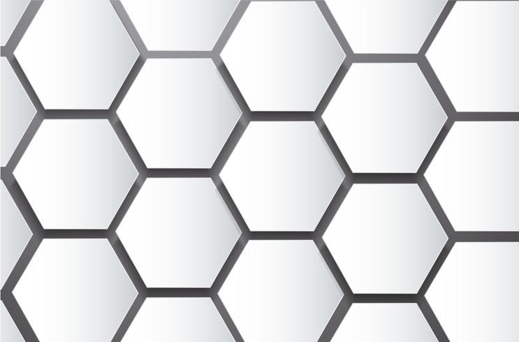 abeille abstrait ruche hexagone et fond de l'espace