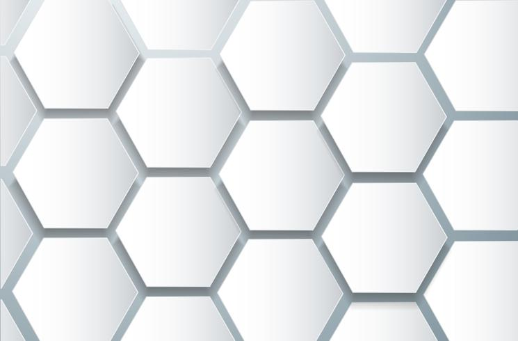 abstrakte Bienenstock Hexagon und Raum Hintergrund vektor