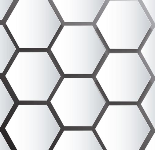 abstract bee hive hexagon and space background  vector