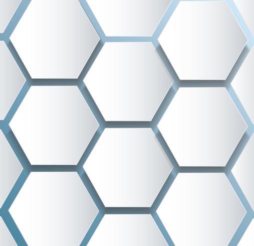 abstrakt bee hexagon och rymdbakgrund