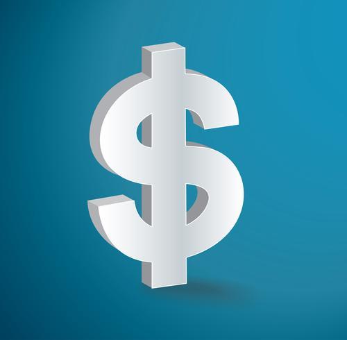 Dollar-Symbol Symbol Vektor